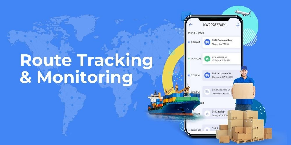 Logistics apps tracking and monitoring