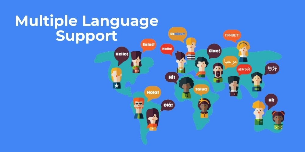 Mobile apps Multiple language support
